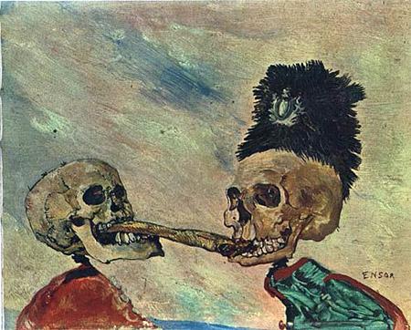 Squelettes se disputant un hareng-saur